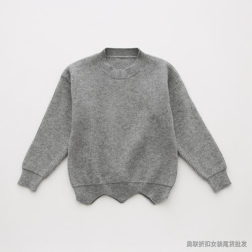 复古圆领糖果色针织衫 (1)